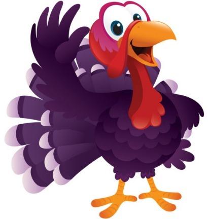 Cartoon Turkey Waving